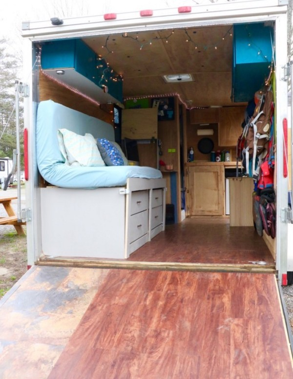 Couple with Two Dogs Traveling in a Stealth Tiny House 005