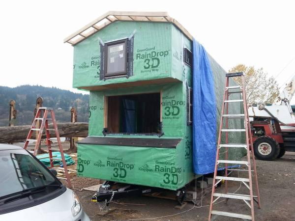 Couples 20k DIY Tiny House Construction 0015