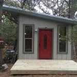 Couple's DIY Steel-Frame Tiny Cabin in the Woods 001