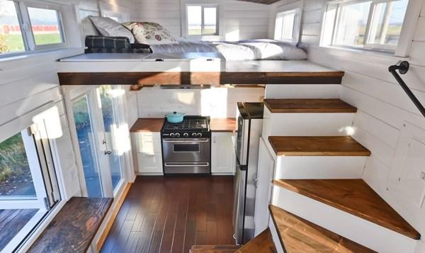 Custom Tiny House on Wheels with Dual Sink Bathroom 003