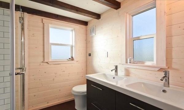Custom Tiny House on Wheels with Dual Sink Bathroom 005