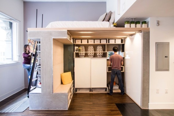 Domino Loft Multifunctional Tiny Apartment by ICOSA and Peter Suen 002