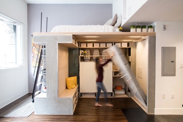 Domino Loft Multifunctional Tiny Apartment by ICOSA and Peter Suen 007