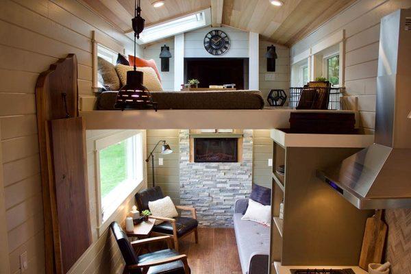 Double Loft Luxury Big Outdoors Tiny House by Tiny Heirloom 007