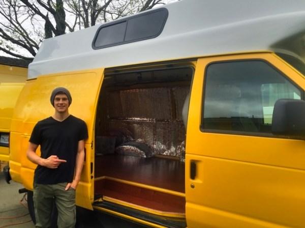 Evan's DIY Conversion Van Tiny Home 0025