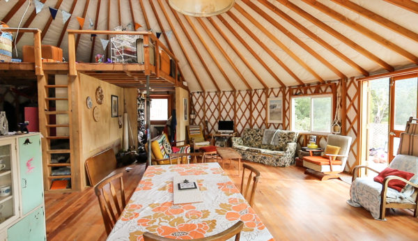 Family Quits City Life To Live Off Grid In A Yurt