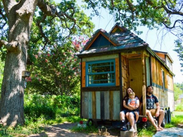 Family of Three's Adventure Tiny House on Wheels 0032