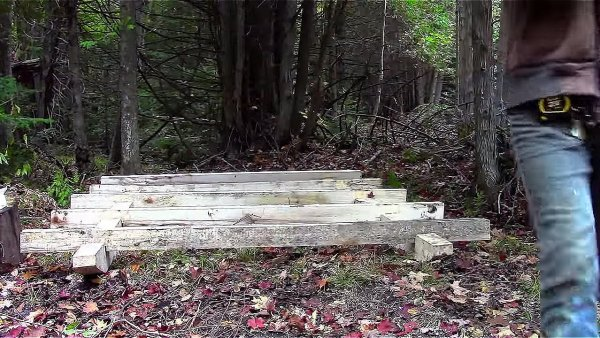 Father and Son Build 160 Dollar Bunkhouse Cabin 006