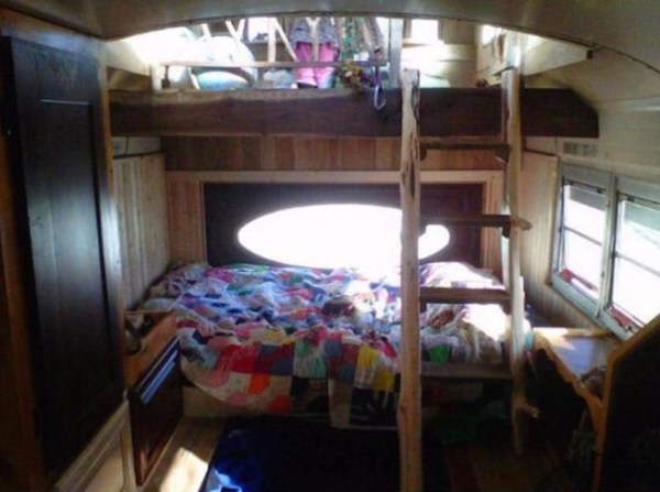 Green Cedar Bus Tiny Home 006