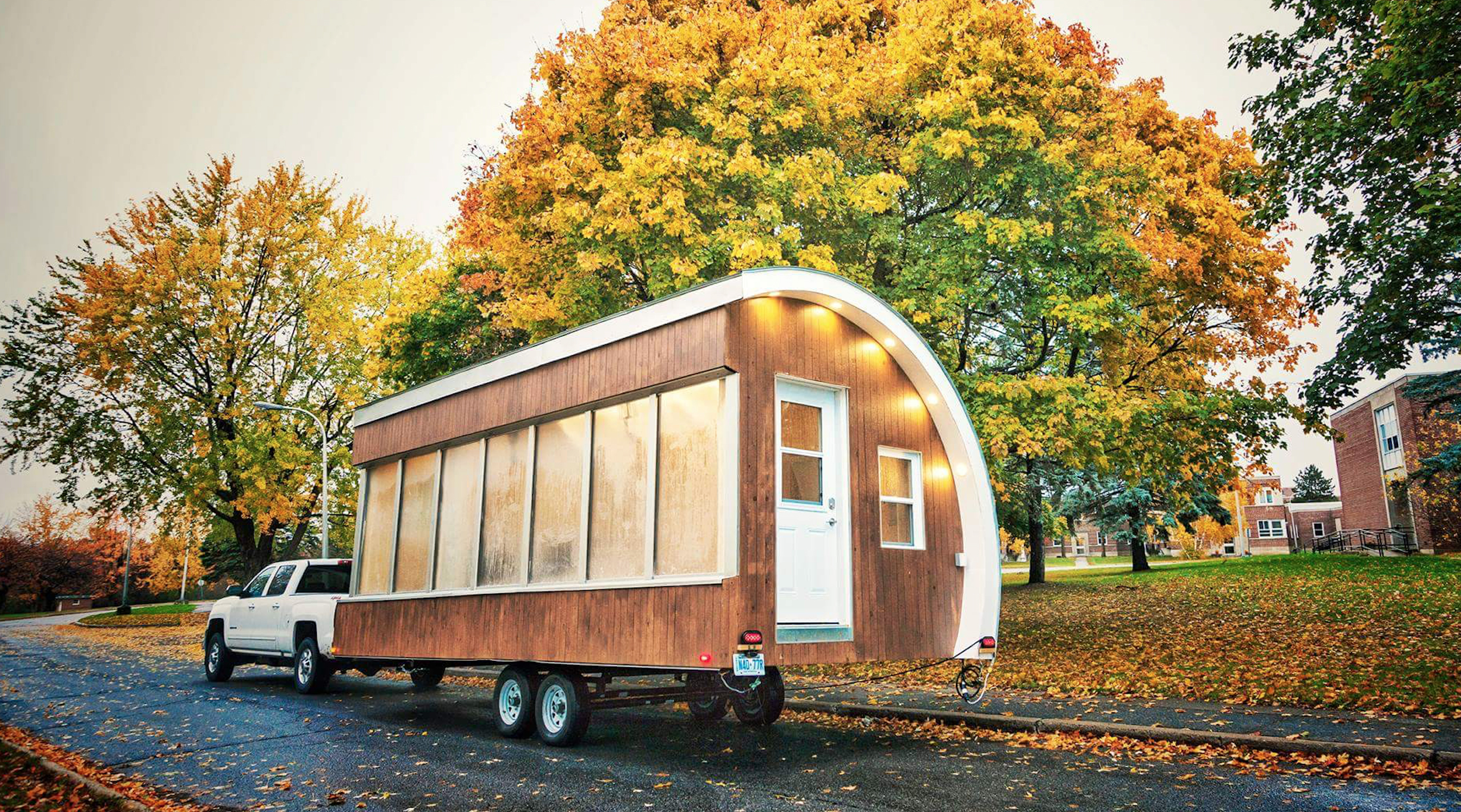Solar Powered Pod As Prototype For Tiny House Mobile