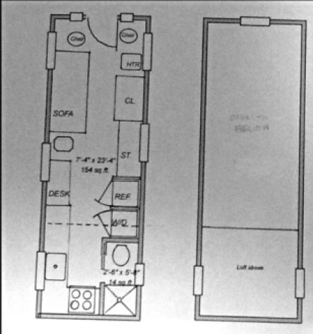 Little Foot Tiny Homes Floor Plan