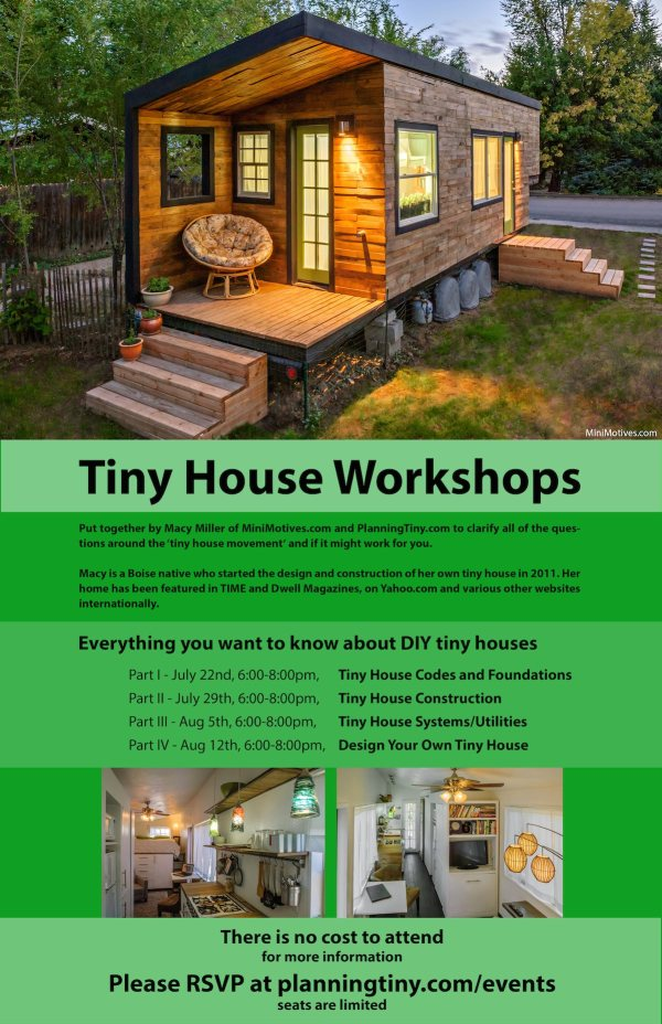 Macy Millers Free Tiny House Workshops