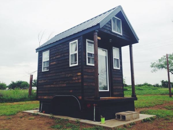 Man Legally Living in 84 Sq. Ft. Tiny Home in Spur Texas