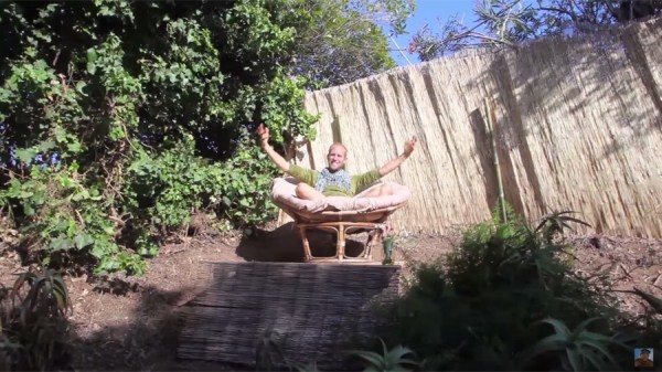 Man Simplifies into Off-Grid Micro Cabin Life in California 0026