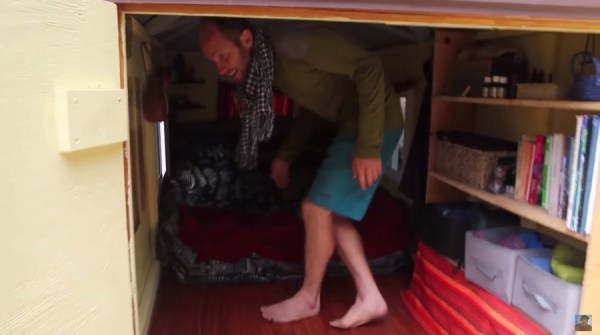 Man Simplifies into Off-Grid Micro Cabin Life in California 003
