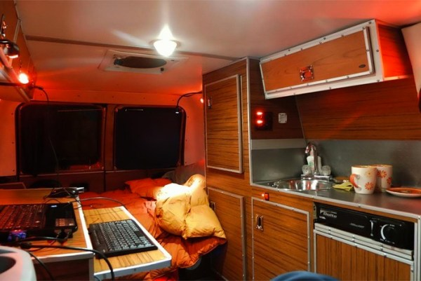 Mans DIY Micro Office and Camper Van 0011