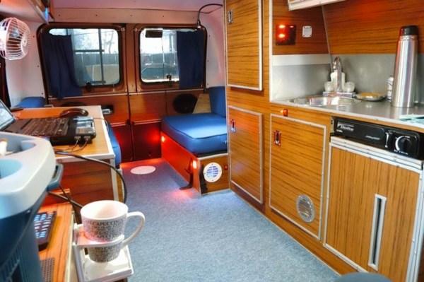 Mans DIY Micro Office and Camper Van 0013