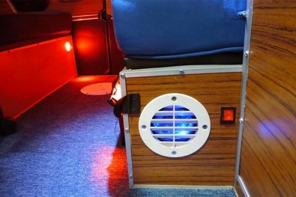 Mans DIY Micro Office and Camper Van 008