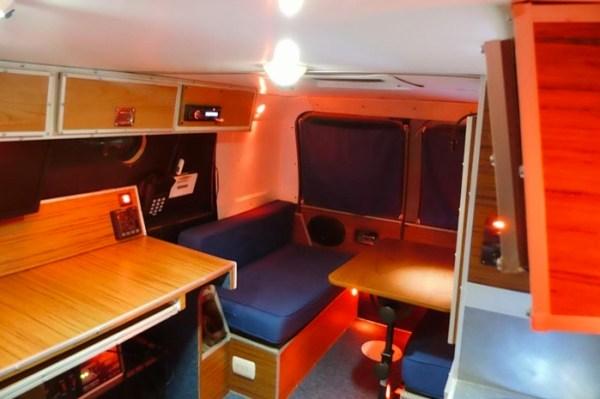 Mans DIY Micro Office and Camper Van 009