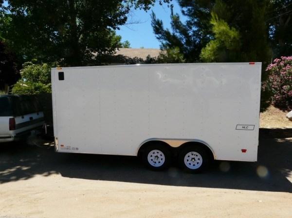 Mans DIY Stealth Cargo Trailer Tiny House 001