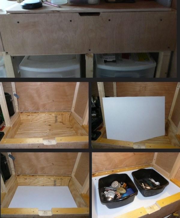 Mans DIY Stealth Cargo Trailer Tiny House 006