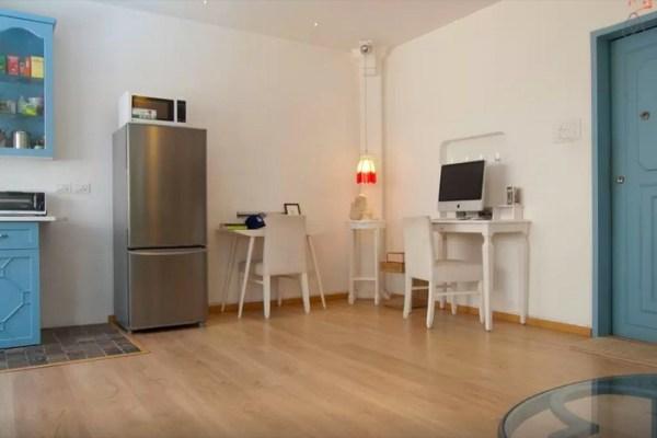 Corner Desks in the Open Living Area