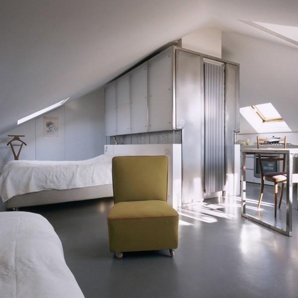 Attic Space Converted into 322 Sq. Ft. Loft Apartment