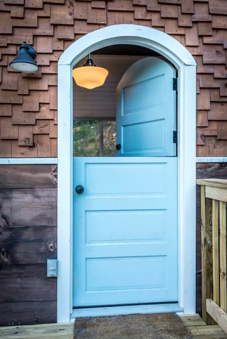 Old Blue Chair Tiny House with Dutch Doors 002
