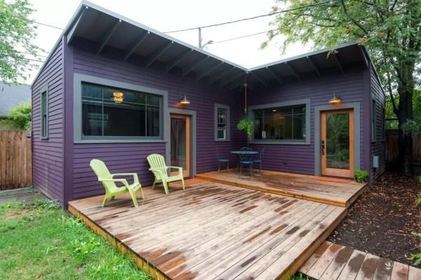 Purple Tiny Cottage in Portland 001