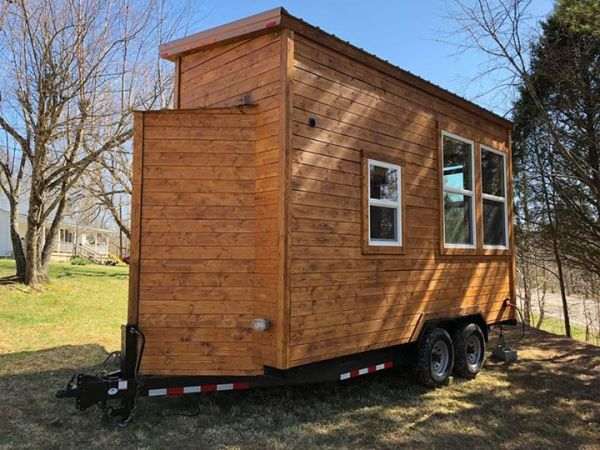 Rustic Western Tiny House on Wheels by Heartland Tiny Homes For Sale 006