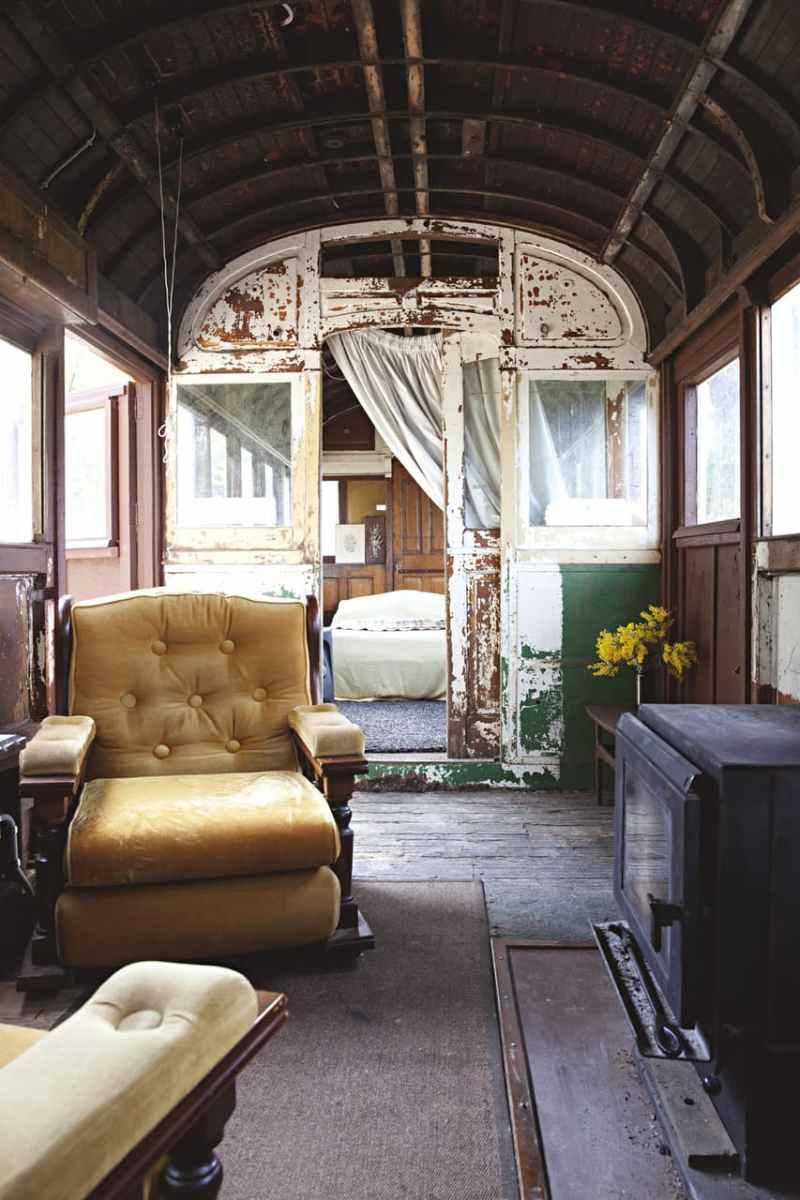 Tram Caravan Shack Tiki Bar Tiny House Hotel