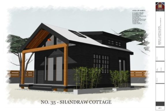 320 Sq  Ft  Shandraw Cottage House Plans