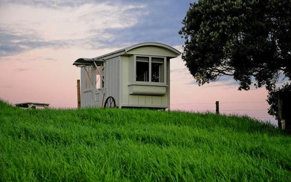 Shepherd Hut Micro Cabin with Ocean Views 001