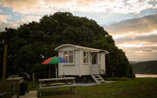 Shepherd Hut Micro Cabin with Ocean Views 0015