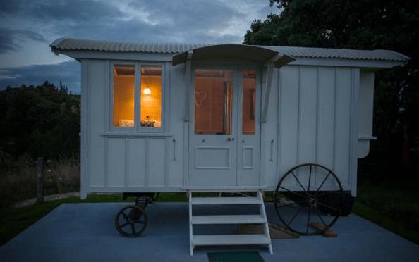 Shepherd Hut Micro Cabin with Ocean Views 0021