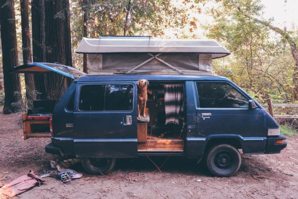Solo Female Living out of an 87 Toyota Van 001