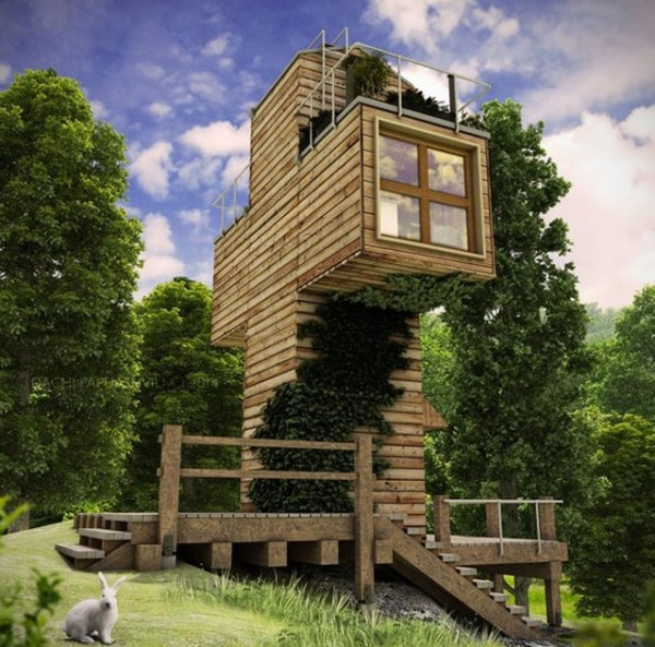 Spiritual-Cross-Shaped-Off-Grid-Tiny-Cabin-Design-002