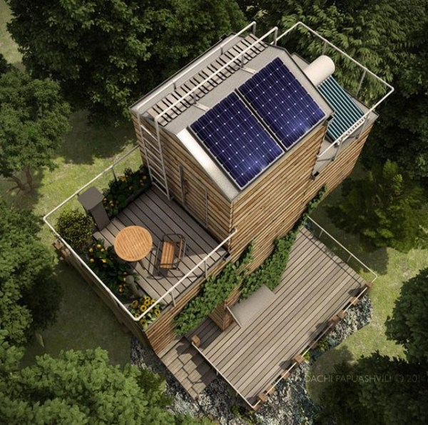Spiritual-Cross-Shaped-Off-Grid-Tiny-Cabin-Design-007