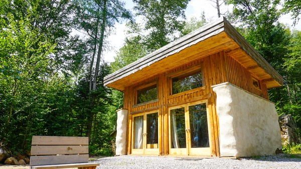 Tiny Straw Bale Cabin With Passive Solar Green Roof Video