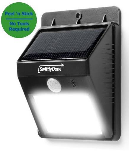 Swiftly Done™ Bright Outdoor LED Light Solar Energy Powered