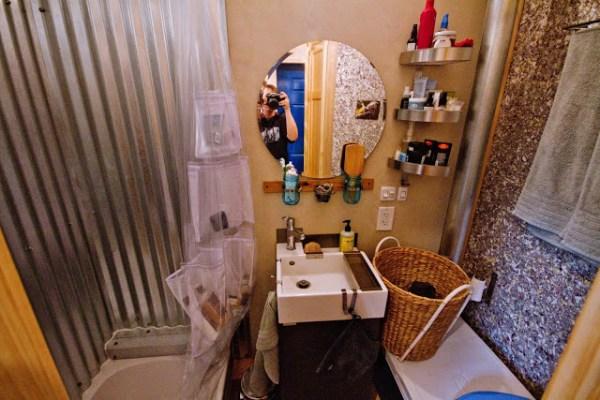 Bathroom in the Lucky House Tiny House