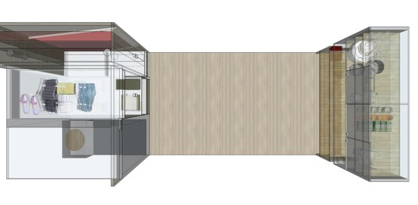 Tilde's Roll Out Tiny House Multi-functional Floor Plan