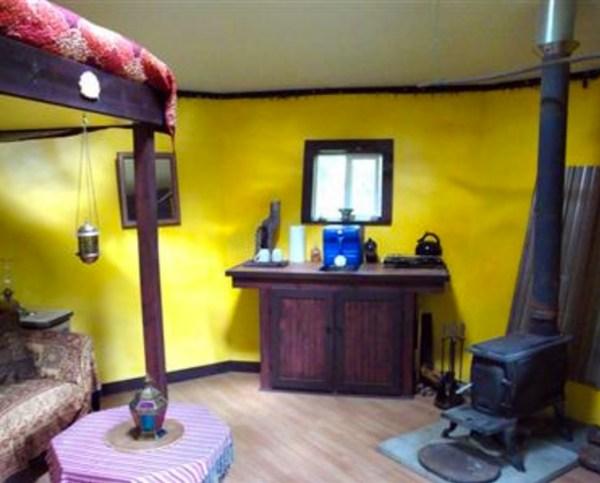 Tiny Adirondack Yurt Cabin 003
