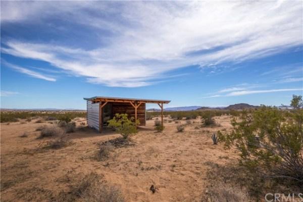 Tiny Homestead Cabin Shell on Five Acres in Joshua Tree CA_011