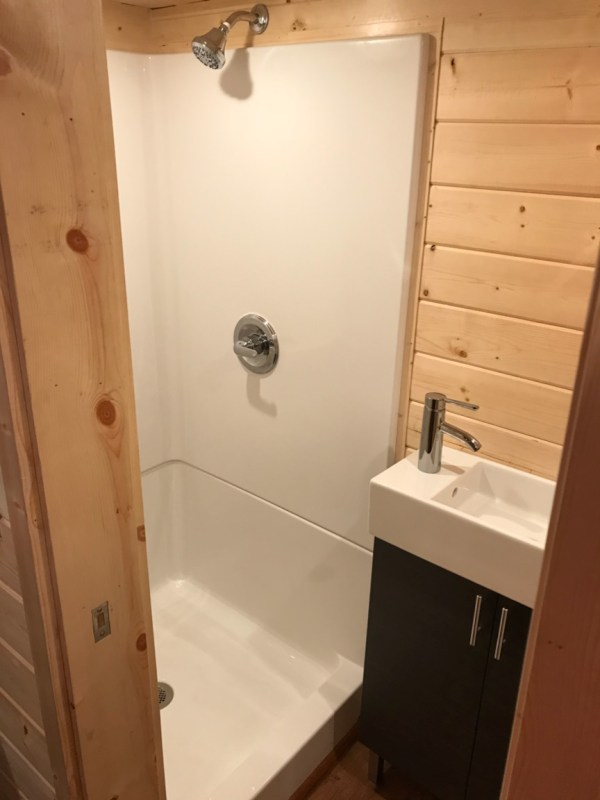 Tiny House Bathroom – Shower and Sink