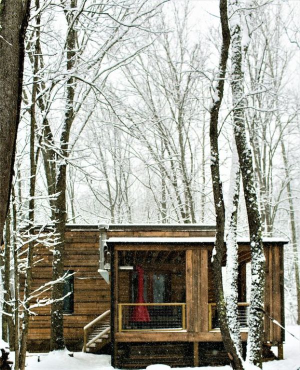 Tiny Modern Rustic Tiny Cabin Vacation near Asheville NC 0029