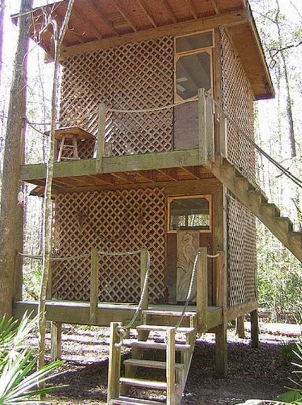 Tree Houses at Hostel Forest in Brunswick Georgia 0017