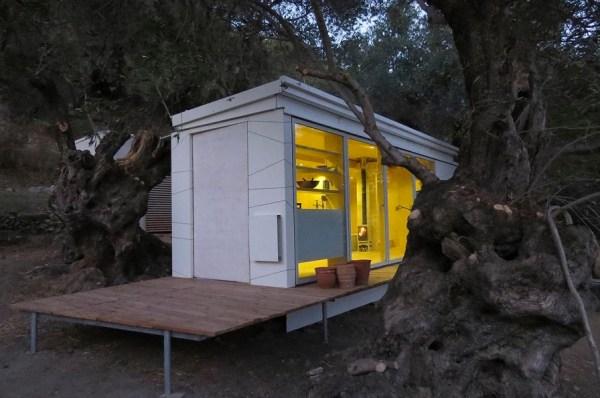Yoga Teachers Modern Off-Grid Crete THOW in Greece by Echo Living 0011