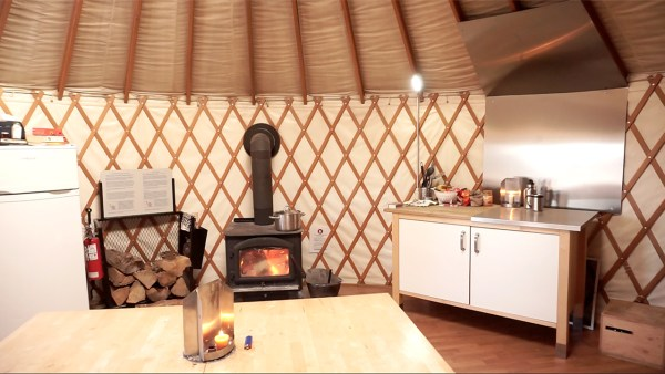 Yurt Interior - Gatineau Park - Exploring Alternatives