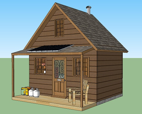Adams Solar Off Grid Tiny Cabin 001